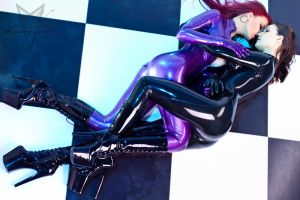 Two Catsuits 02 by GuldorPhotography