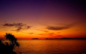Moonrise after Sunset by nxxos