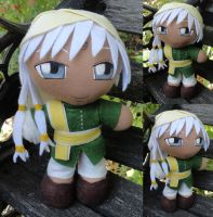 Commission, Mini Plushie Agni, Green Ensemble by ThePlushieLady