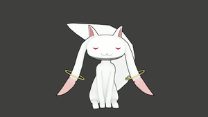 Kyubey 3D Model (Download Link) by TylerTC7