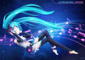 Hatsune Miku Append by OzenkaLily
