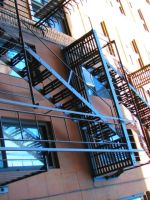 fFire escape in NYC by goodbyeLOVE