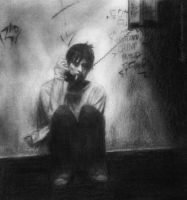 Jared Leto drawing - Requiem for a dream by lyyy971