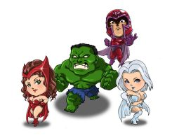 Chibi Marvel Heroes Part 2 by Choppic