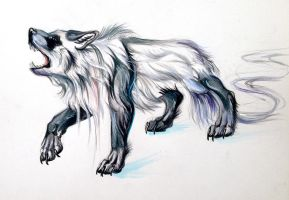 Panda Wolf Creature by Lucky978