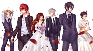 RFA Wedding Outfits by rialynkv
