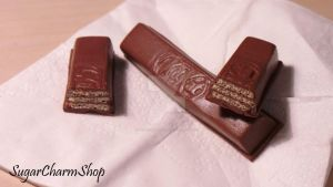 Polymer clay Kit Kat by sugarcharmshop