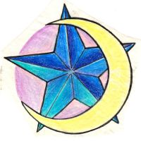 moon star tattoo design by Deborah-Valentine