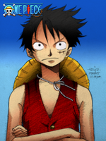 monkey d. luffy colored by reijr