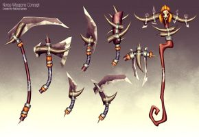 Primal Weapons Concept by slipled