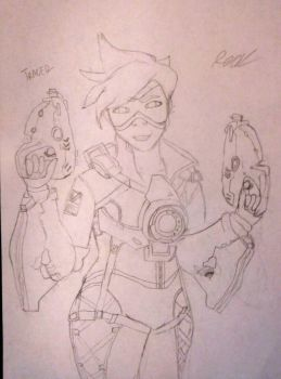 Tracer (Overwatch)  by TheiMightyRed