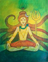 yellow shiva by santosam81