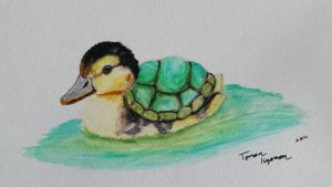 Uh oh, a Turtle Duck! by tomon000