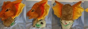 Copper dragon costume head by ArtSlavefursuits