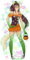 Obligatory halloween art: Jade the Pumpkin Witch! by Ringamon