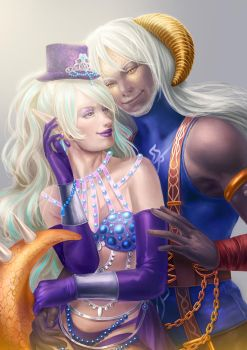 Commission: Opal and Lume by AlaisL