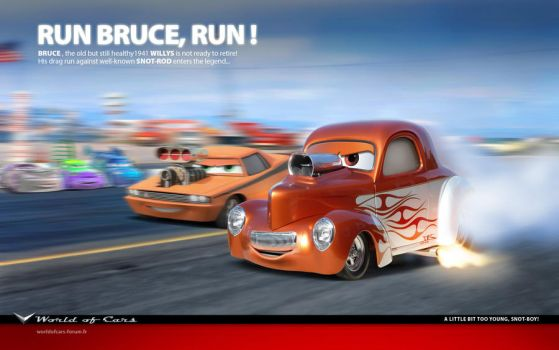 Cars | Run Bruce, run by danyboz
