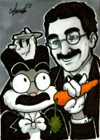 Bugs+ Groucho -thecosmicdancer by TheDeviantMakepeace