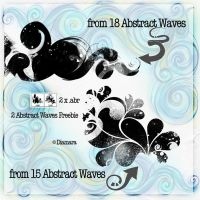 2 Abstract Waves Freebie by Diamara