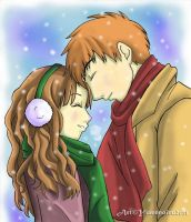 :Ron+Hermione: Winter Love by TheYumeNoInu