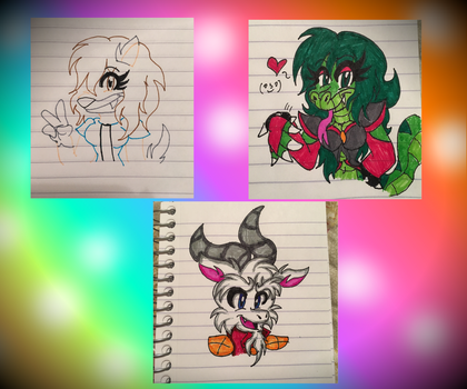 Marker Test ~ Spirit Animal Characters by SonicFazbear15