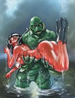 Creature of the Black Lagoon by AxelMedellin