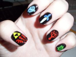 ocarina of time nails by Happylod3