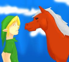 Link and Epona by mtowreck