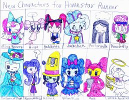 New Girls of Homestar Runner by dannichangirl