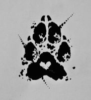 Pawprint tattoo commission by Edeneue