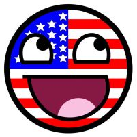 Stars and Stripes Awesome Face by TigerJ15