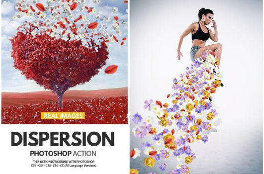 Dispersion with Real Images Photoshop Action by PsdDude