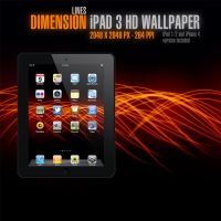 Dimension lines iPad 3 HD wallpaper by Martz90