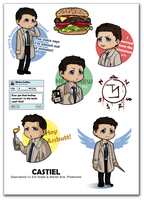 Castiel stickers by Poledrey