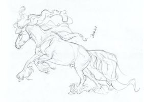 Horse Anatomy Sketch XIV by Jag6201