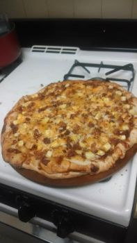 Homemade BBQ pizza by MechaDM