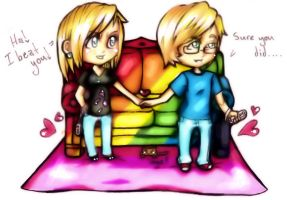 Rainbow Sofa Sees ALL by CUTE-ChibiMONSTERZ