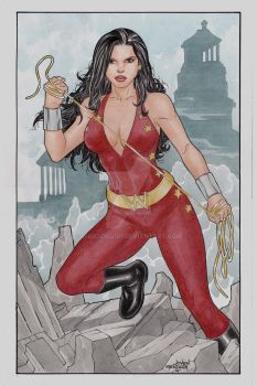 Classic Donna Troy Commission by wardogs101
