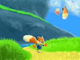 Conker Running Through Windy Updated by SpongicX