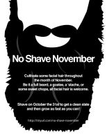 No Shave November Flier by brandimillerart