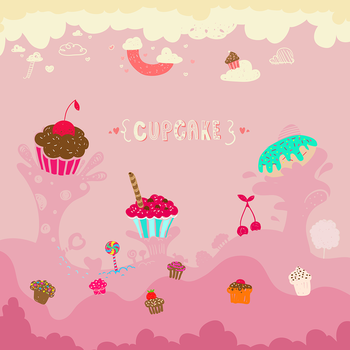 Cupcake - Wallpaper by thoola