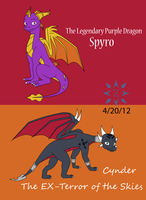 Spyro and Cynder by Rovas117
