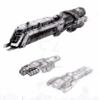 UNSC DESTROYER by D4RKST0RM99
