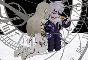[MMD Elsword] I'm Here for You (Add x Eve) by Sallaria