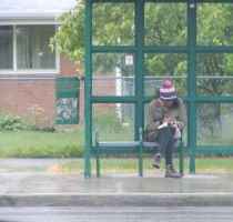 Waiting for the City Bus by mebyrne57