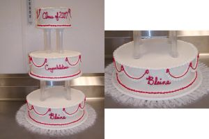 Tiered Graduation Cake by ayarel
