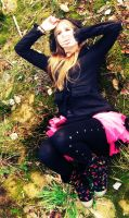 Autumn in black and pink XD by ProbablyThePenguin