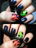 tentacle nails by xtheungodx