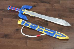 Duct Tape Master Sword and Sheathe by ynnej555