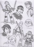 Pencil Doodles: TMNT by SharpBluePencils